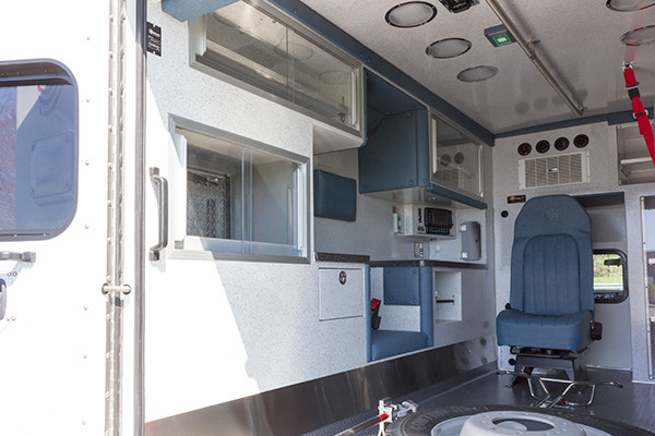 2016 Braun Express Plus Type I ambulance - driver rear interior