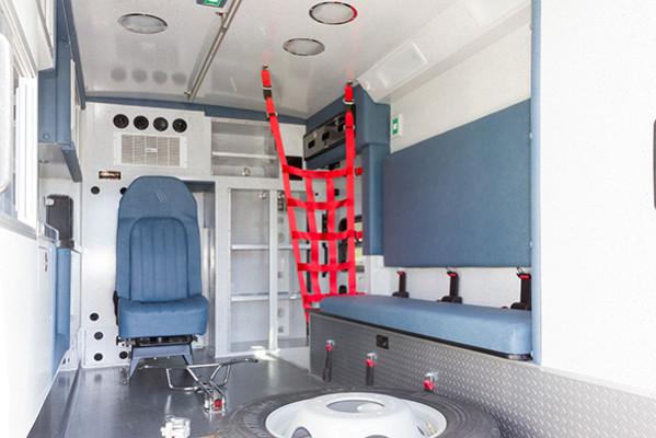 2016 Braun Express Plus Type I ambulance - passenger rear interior