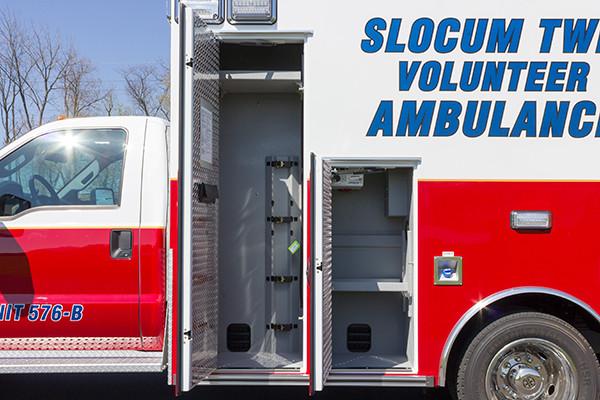 2016 Braun Express Plus Type I ambulance - oxygen storage compartment