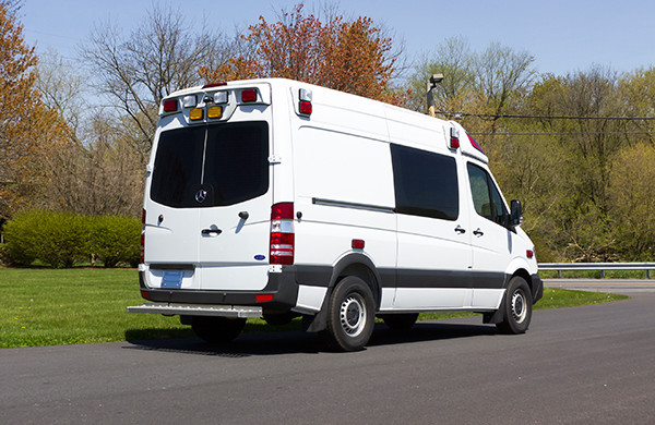 Demers Type II ambulance - Mercedes Sprinter demo unit - stock ambulances for sale - passenger rear