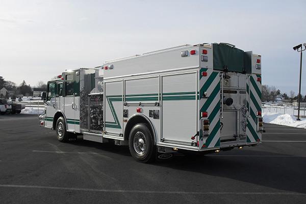 2010 Pierce Velocity - rescue pumper fire truck - driver rear