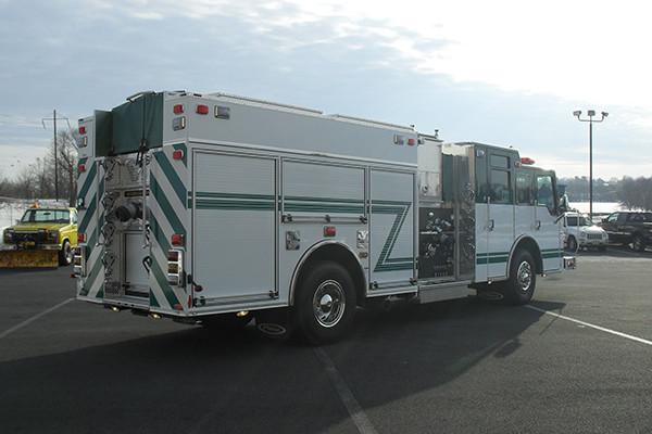 2010 Pierce Velocity - rescue pumper fire truck - passenger rear