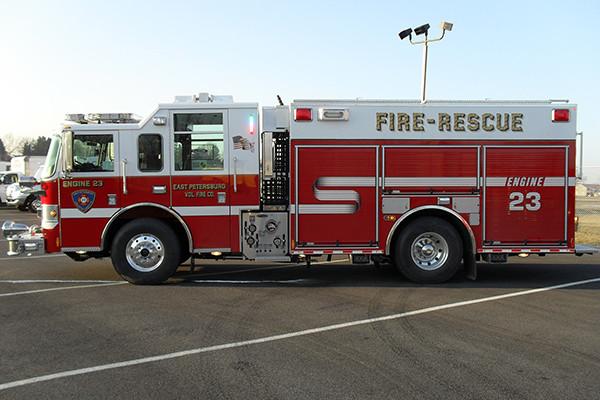 2010 Pierce Contender - PUC pumper fire engine - driver side