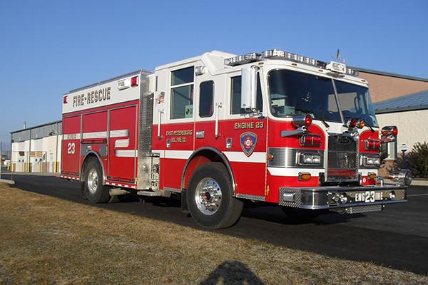 2010 Pierce Contender - PUC pumper fire engine - passenger front