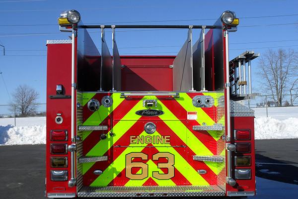 2010 Pierce Arrow XT - pumper fire engine - rear hosebed