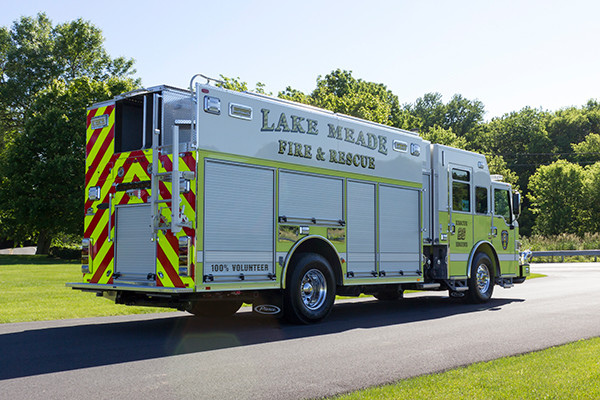 2016 Pierce Impel - PUC rescue pumper - passenger rear