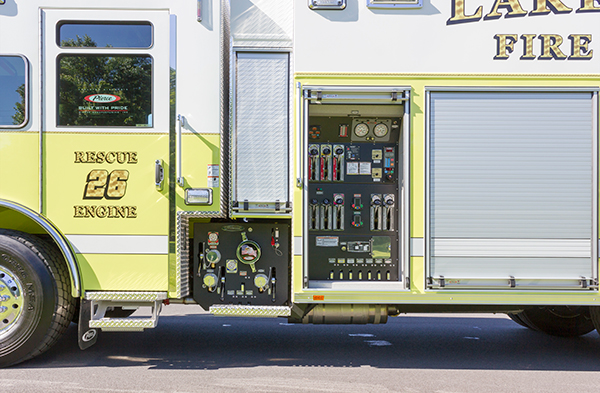 2016 Pierce Impel - PUC rescue pumper - pump and control panel