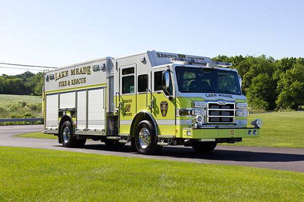 2016 Pierce Impel - PUC rescue pumper - passenger front