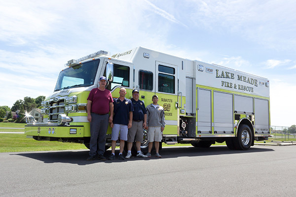 2016 Pierce Impel - PUC rescue pumper - group photo
