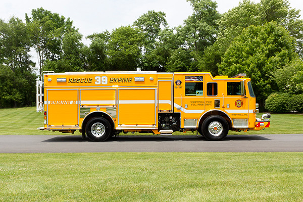 2016 Pierce Arrow XT PUC pumper - rescue engine - passenger side