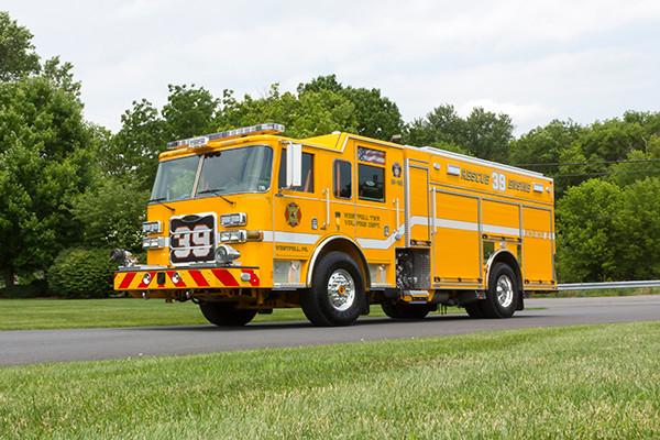 2016 Pierce Arrow XT PUC pumper - rescue engine - driver front