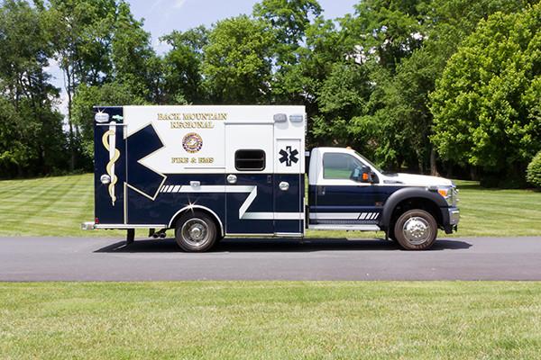 2015 Braun Liberty Type I ambulance - Ford F-450 4x4 - passenger side