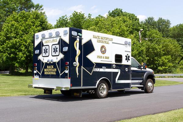 2015 Braun Liberty Type I ambulance - Ford F-450 4x4 - passenger rear
