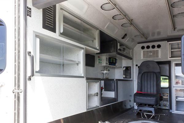 2015 Braun Liberty Type I ambulance - Ford F-450 4x4 - rear interior driver side