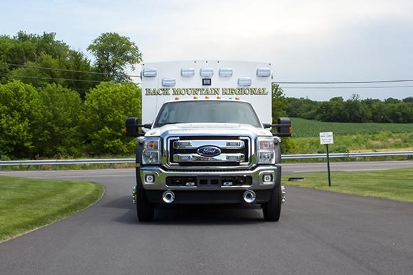 2015 Braun Liberty Type I ambulance - Ford F-450 4x4 - front