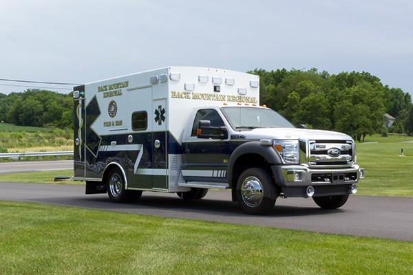 2015 Braun Liberty Type I ambulance - Ford F-450 4x4 - passenger front