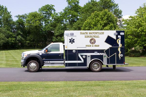 2015 Braun Liberty Type I ambulance - Ford F-450 4x4 - driver side