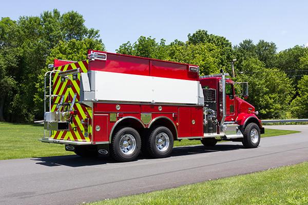 2016 Pierce Kenworth - commercial dry side tanker fire truck - passenger rear