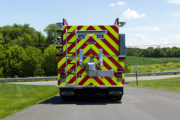 2016 Pierce Kenworth - commercial dry side tanker fire truck - rear