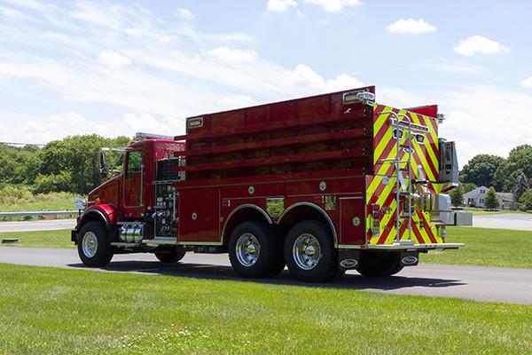 2016 Pierce Kenworth - commercial dry side tanker fire truck - driver rear