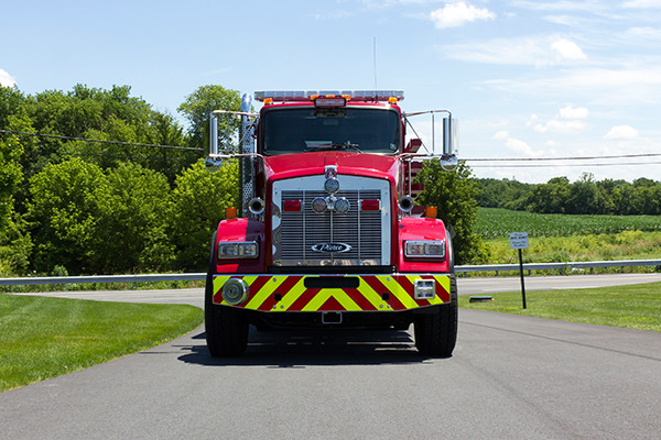 2016 Pierce Kenworth - commercial dry side tanker fire truck - front
