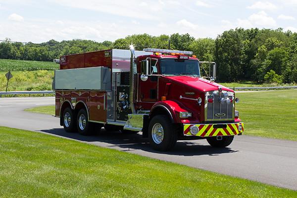 2016 Pierce Kenworth - commercial dry side tanker fire truck - passenger front