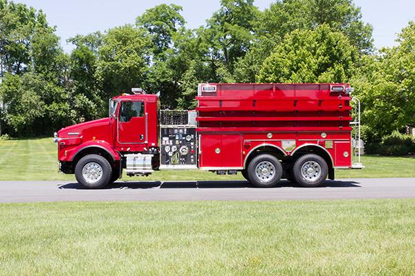 2016 Pierce Kenworth - commercial dry side tanker fire truck - driver side