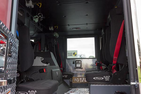 2016 Pierce Arrow XT - 105' heavy duty aerial ladder fire truck - crew cab area