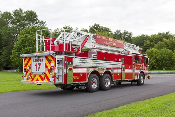 2016 Pierce Arrow XT - 105' heavy duty aerial ladder fire truck - passenger rear