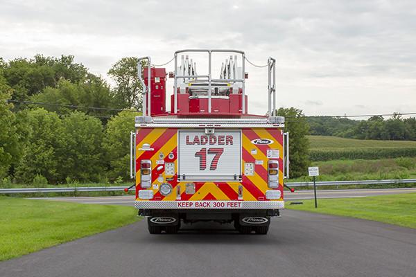 2016 Pierce Arrow XT - 105' heavy duty aerial ladder fire truck - rear