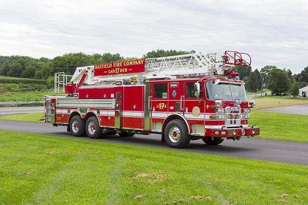 2016 Pierce Arrow XT - 105' heavy duty aerial ladder fire truck - passenger front