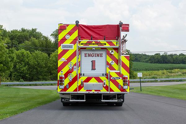 2016 Pierce Arrow XT - tanker pumper fire engine - rear