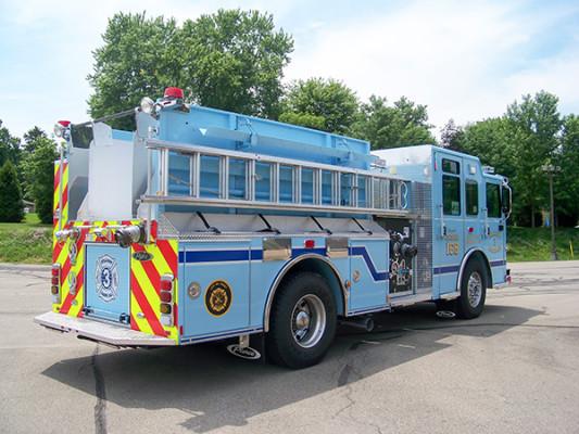 2016 Pierce Enforcer - fire engine pumper - passenger rear