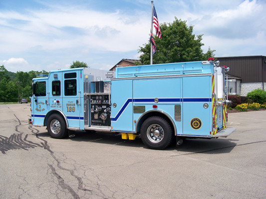 2016 Pierce Enforcer - fire engine pumper - driver rear