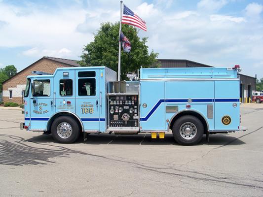 2016 Pierce Enforcer - fire engine pumper - driver side