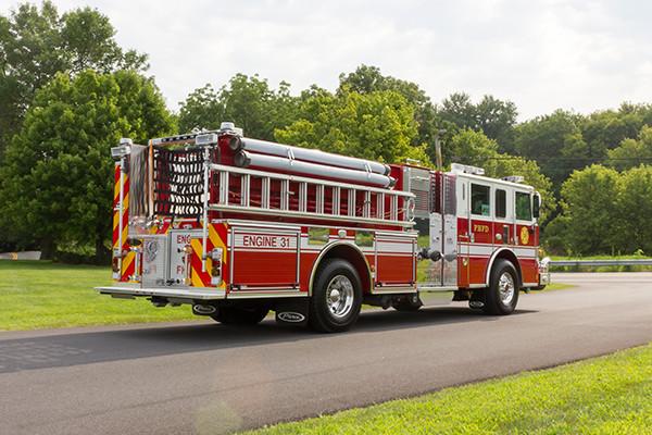 2016 Pierce Arrow XT - fire engine pumper - passenger rear