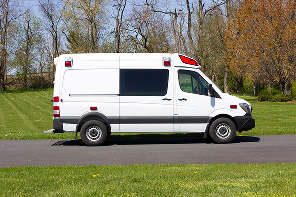 2016 Demers Type II ambulance - Mercedes Sprinter - passenger side