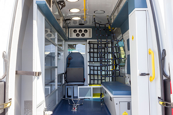 2016 Demers Type II ambulance - Mercedes Sprinter - rear interior