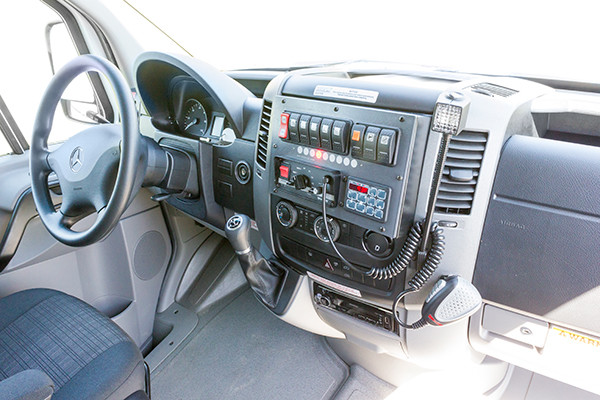2016 Demers Type II ambulance - Mercedes Sprinter - cab interior