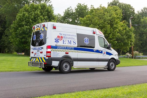 2016 Demers Mirage EXE Type II ambulance - Mercedes Sprinter - passenger rear