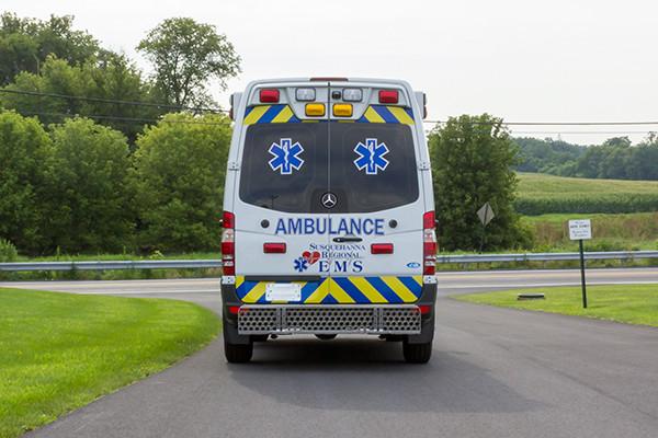 2016 Demers Mirage EXE Type II ambulance - Mercedes Sprinter - rear