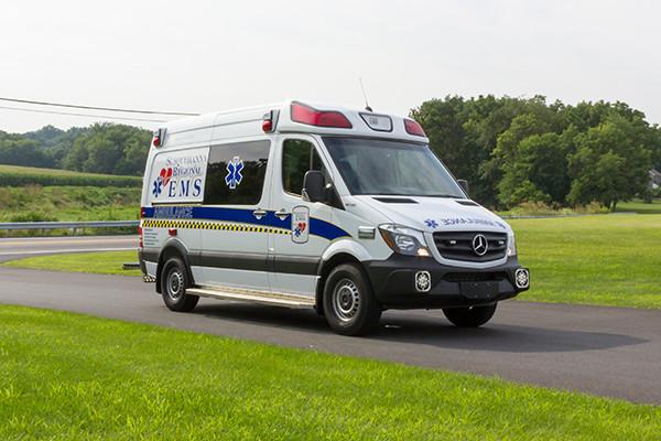 2016 Demers Mirage EXE Type II ambulance - Mercedes Sprinter - passenger front