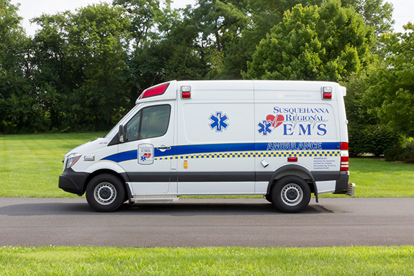 2016 Demers Mirage EXE Type II ambulance - Mercedes Sprinter - driver side