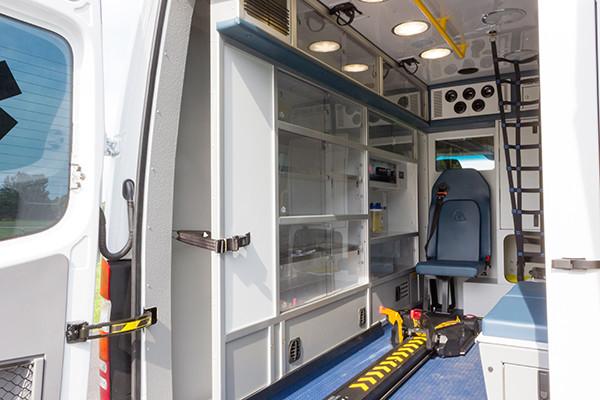 2016 Demers Mirage EXE Type II ambulance - Mercedes Sprinter - interior patient area