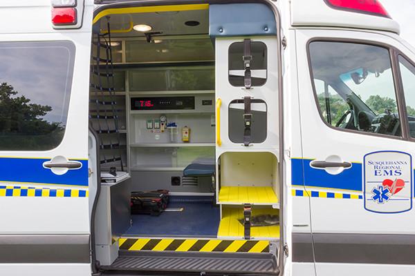 2016 Demers Mirage EXE Type II ambulance - Mercedes Sprinter - passenger side interior