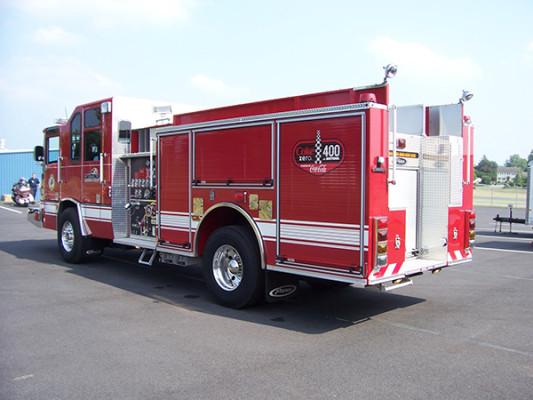 2009 Pierce Quantum - pumper fire engine - driver rear