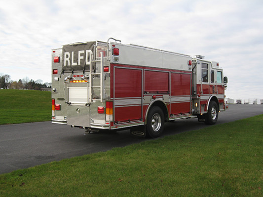 2009 Pierce Arrow XT - PUC rescue pumper fire engine - passenger rear
