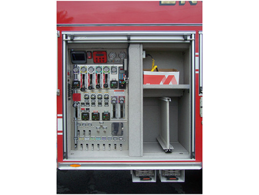 2009 Pierce Quantum - PUC rescue pumper - fire engine - pump control compartment