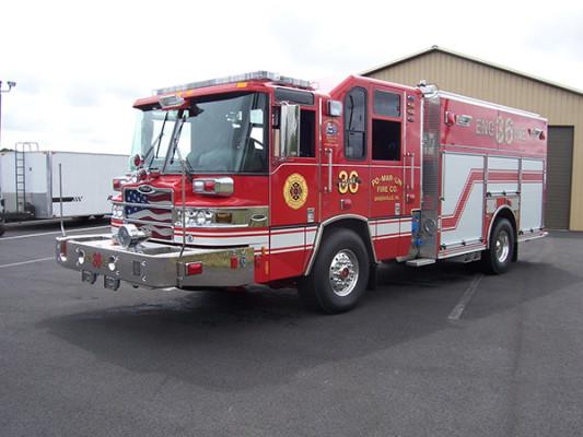 2009 Pierce Quantum - PUC rescue pumper - fire engine - driver front