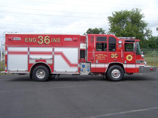 2009 Pierce Quantum - PUC rescue pumper - fire engine - passenger side